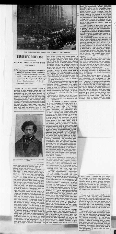 News Article on the Funeral of Frederick Douglass