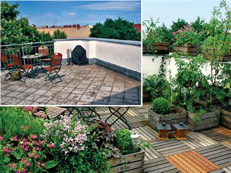 Dachterrasse Gestalten Gartengestaltung Dekoration Kleinen Garten Gestalten Vorher Nachher