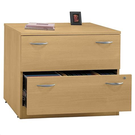 Lateral File Cabinet Wood Bbf Series C 2 Drawer Lateral Wood File Storage Light Oak Filing Cabinet Ebay