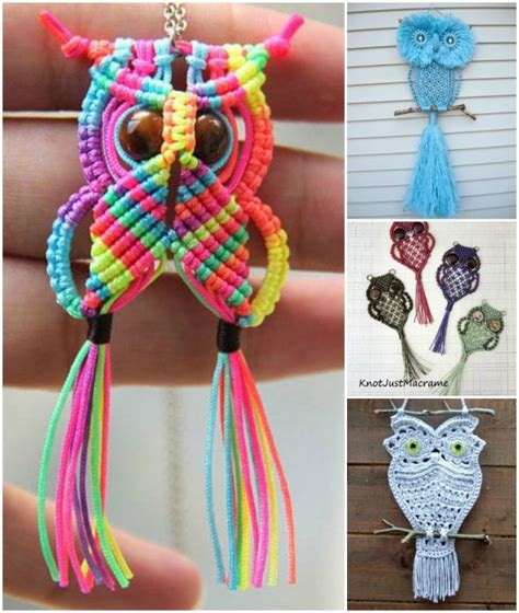 Macrame Craft Ideas - how adorable are these macrame owls macrame is a craft