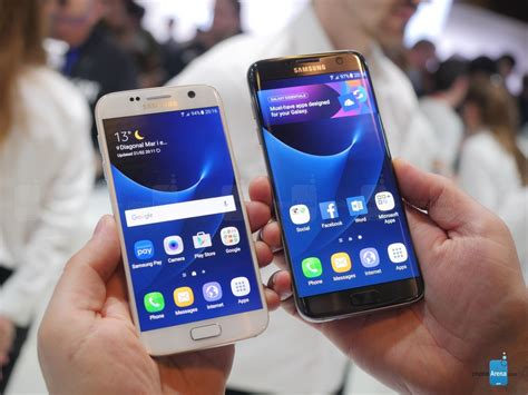 samsung galaxy s7 vs s7 edge look phonearena reviews