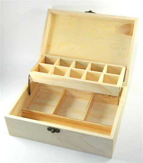 make your own jewelry box design your own wood devided box diy unfinished trinket