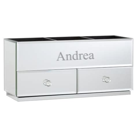 Mirrored Makeup Drawers by Mirrored Makeup Storage Pbteen