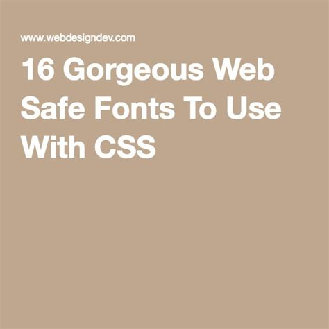 30 gorgeous web safe fonts to use with css 51 best images about typography on pinterest typography