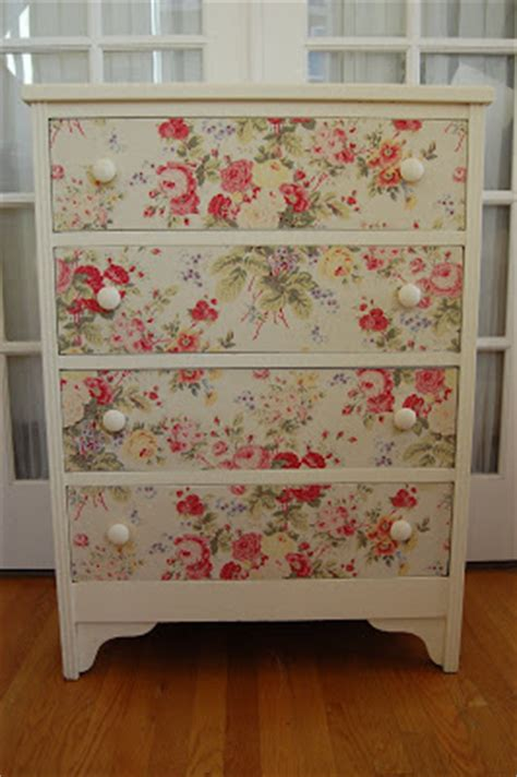 Decoupage With Fabric Tutorial - maison douce fabric dresser tutorial and cool finds