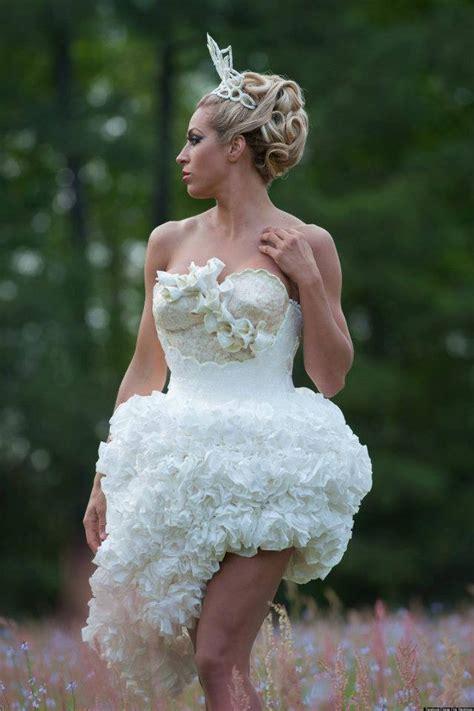 Wedding Dress Sweepstakes - mimoza haska wins toilet paper wedding dress contest 2013 pictures