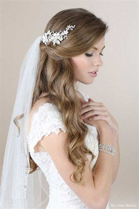 Wedding Hairstyles Half Up With Veil by Gorgeous Half Up And Half Bridal Hairstyles With