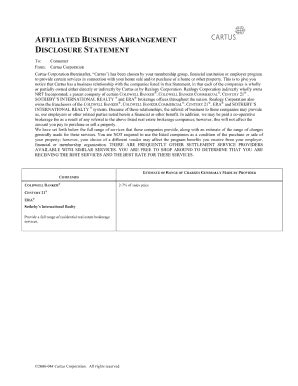 Affiliated Business Disclosure Chase Fill Online Printable Fillable Blank Pdffiller Affiliate Disclosure Template