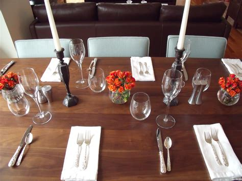 Glasses Table Setting With Setting The Table Recipe Mashups