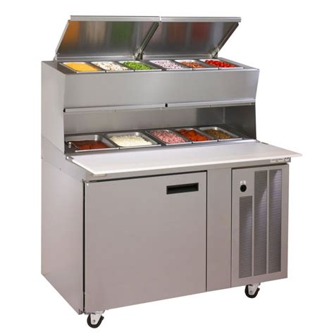 48 inch pizza prep table delfield 18648pdlv 48 quot pizza prep table w refrigerated