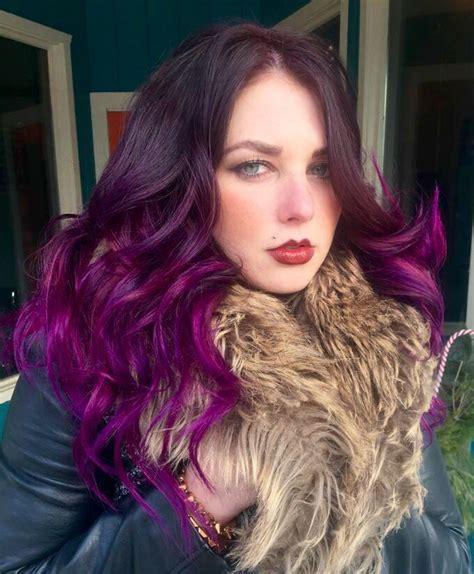 amethyst hair color hair color winter ombre orchid amethyst violet black