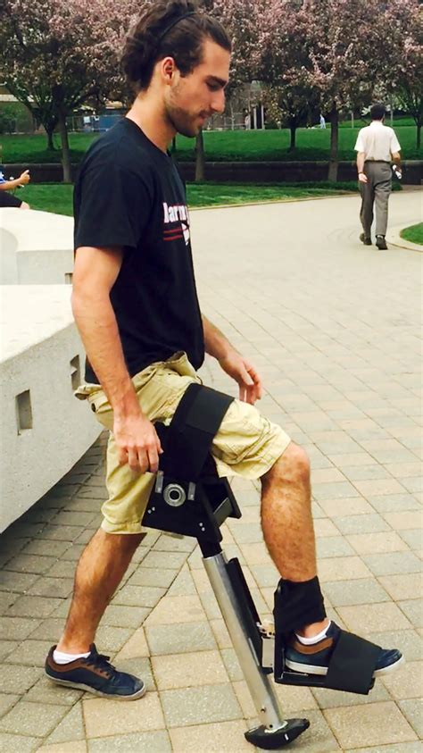 how to make crutches more comfortable on hands smart leg mobility device could provide hands free