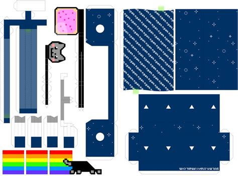 Paper Craft Machine - nyan cat machine by kamibox on deviantart