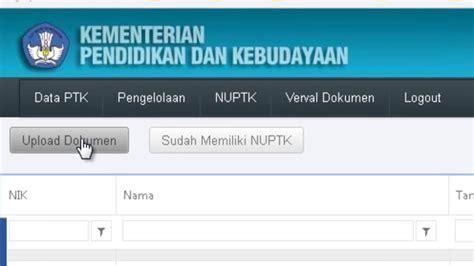 cara untuk upload video di youtube cara upload dokumen untuk mendapatkan nuptk baru di