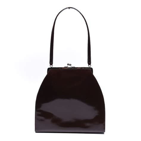 Dolce And Gabbana Patent Tote Bag by Dolce Gabbana Handbag Brown Vintage Patent Leather Ns