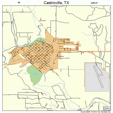 map of castroville texas castroville texas map 4813312