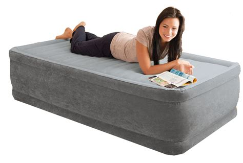 air bed in walmart intex comfort plush raised single size airbed with built