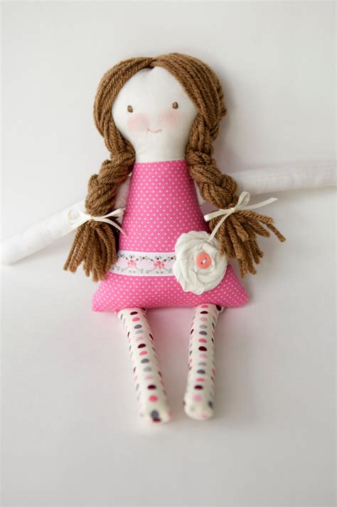handmade 12 inch rag doll custom personalized doll amelia
