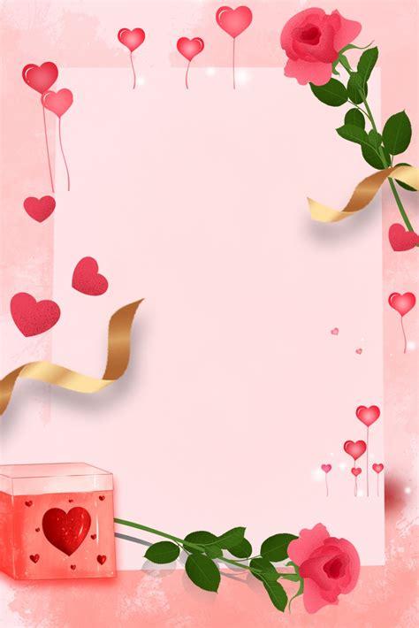 love balloon letterhead envelope background pink cartoon
