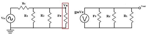 transistor ac equivalent circuit how to calculate vπ vpi of a transistor