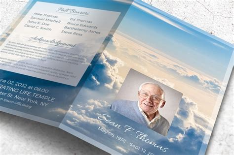 memorial brochure templates free 20 funeral brochure template word indesign and psd