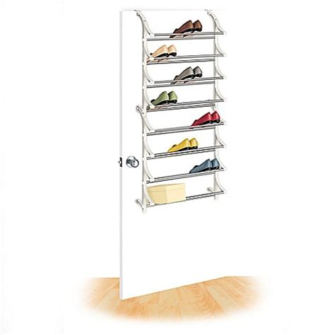 shoo rack bathroom lynk over the door 24 pair shoe rack bed bath beyond