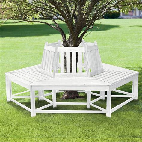 tree bench seat white tree seat white ironstone cottage
