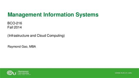 Mba Information Systems Reddit by 5 Infrastructure And Cloud Computing