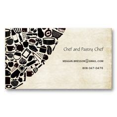 pastry chef business card templates 1000 images about business card ideas on