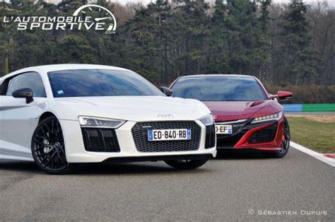 Nsx Vs R8 by Comparatif Honda Nsx Vs Audi R8 V10 Plus