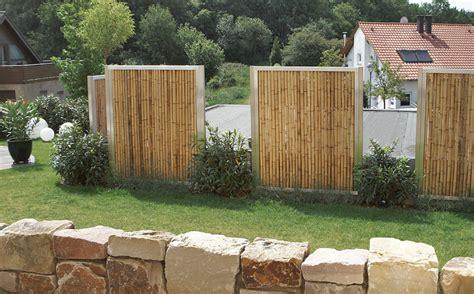sichtschutz garten langlebig bambus sichtschutz f 252 r den garten in cortenstahl oder