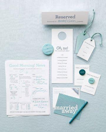 Martha Stewarts Guests by Destination Wedding Guest Directory Wedding Welcome