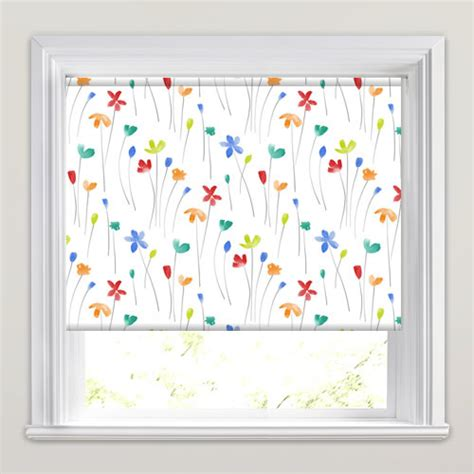 orange patterned roller blind pretty flowers patterned roller blinds in lime red