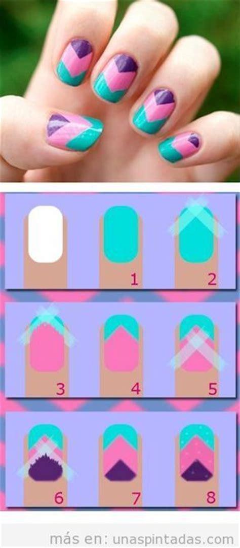 imagenes de uñas pintadas de tres colores dise 241 o de u 241 as f 225 cil v de tres colores tutorial u 241 as