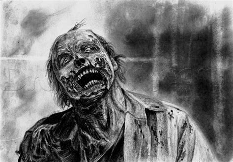 Drawing Zombies by How To Draw A Realistic Step By Step
