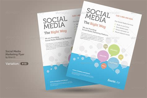social media brochure template social media marketing flyer by kinzi21 graphicriver