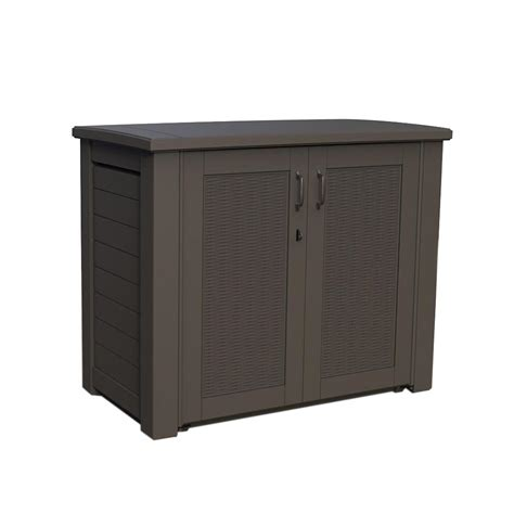 plastic cabinets home depot rubbermaid 123 gal bridgeport resin patio cabinet 1863391