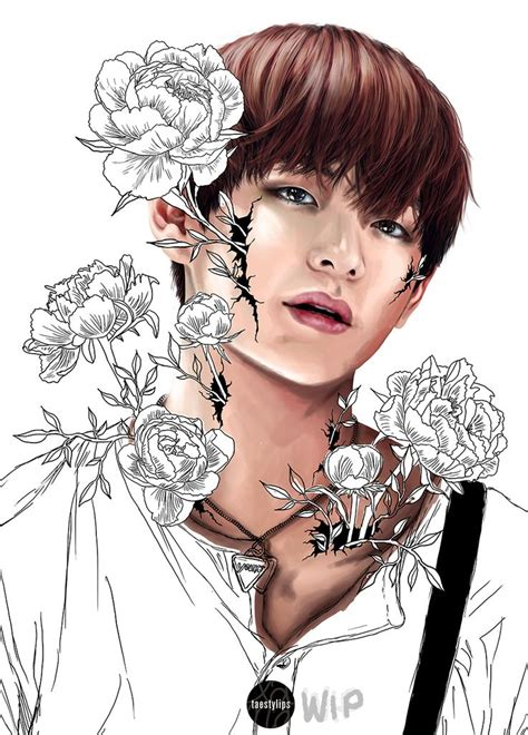 Kpop Drawing by 354 Best Bts Fanart Images On Kpop Fanart Bts