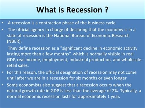 receding definition official definition of recession hab immer hun ga