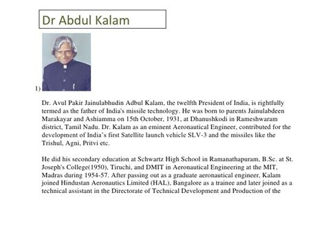 abdul kalam biography in hindi download biography of abdul kalam 100
