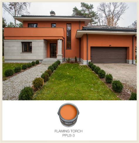 orange exterior house colors colorfully behr color of the month fiery orange