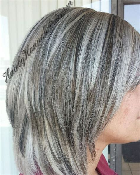 pictures of gray hair with lowlights 2248 best images about hairstyles on pinterest