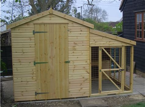 dog house attached to house shed and kennel