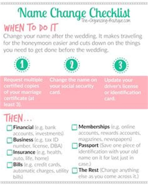 Marriage name change checklist texas