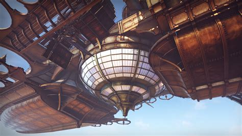 Victorian Blueprints by Steampunk Airship By Jerome Pourchier In Environments