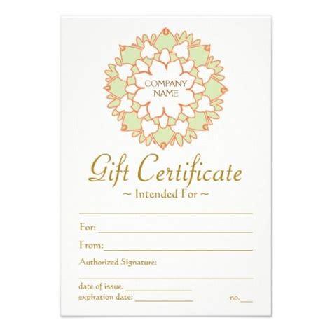 lotus healing arts printed gift certificate template