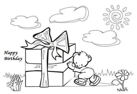Greeting Cards Coloring Pages