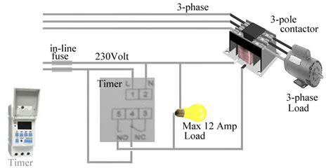 digital parking lot light timer how to install 3 phase timer