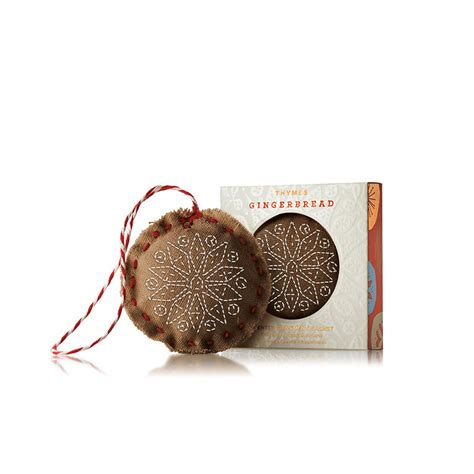 scented ornaments thymes gingerbread scented ornament sachet