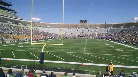 notre dame stadium bench seat notre dame stadium section 18 rateyourseats
